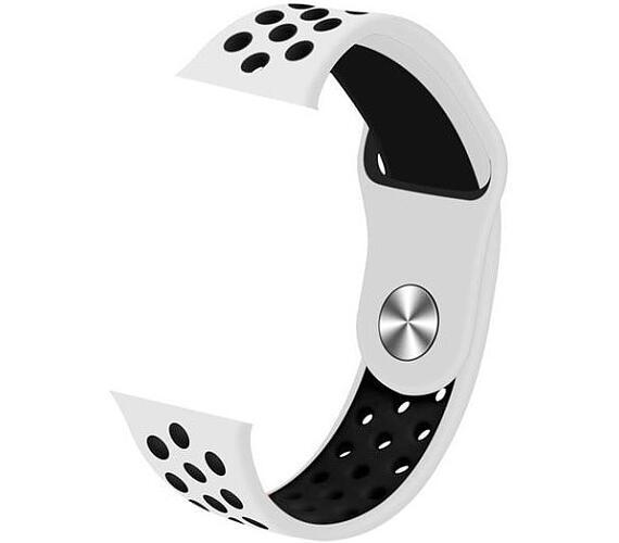 IMMAX řemínek pro chytré hodinky SW10/ SW13/ Apple watch/ bílo-černý (05034)