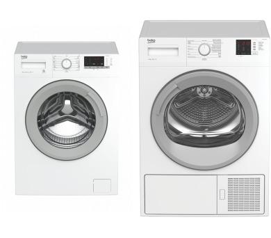 SET Pračka BEKO WTV 8612 XSW + Sušička Beko DH 8612 CSRX