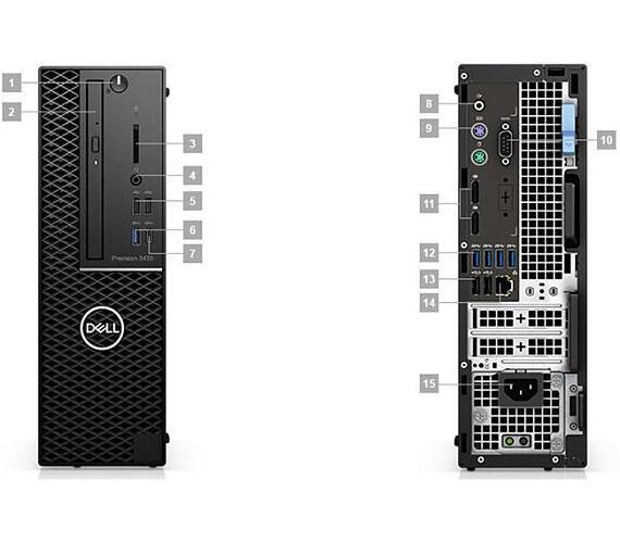 DELL Precision T3430/i7-8700/8GB/256GB SSD/Intel HD/Win 10 Pro 64bit/3Yr PS NBD (X74F3)