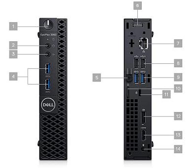 DELL OptiPlex MFF 3060/Core i5-8500T/8GB/256GB SSD/Intel UHD/Win 10 Pro 64bit/3Yr NBD + DOPRAVA ZDARMA