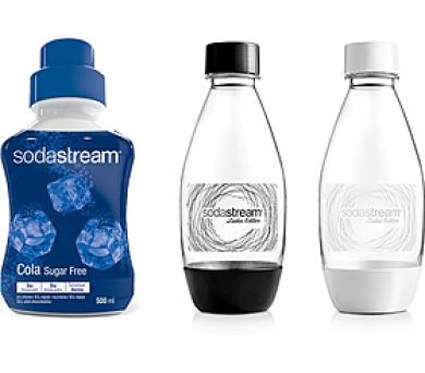 sada dámské lahve + příchuť Cola SF SODA SodaStream