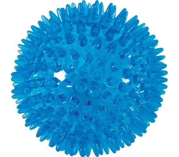 Hračka pes BALL SPIKE TPR POP 13cm s ostny tyrkysZolux