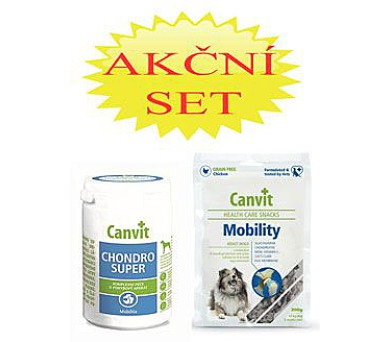 Canvit Chondro Super pro psy 230g+Canvit Snack Mobilit