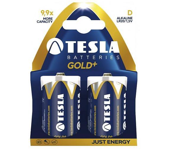 TESLA GOLD+ alkalická baterie D (LR20