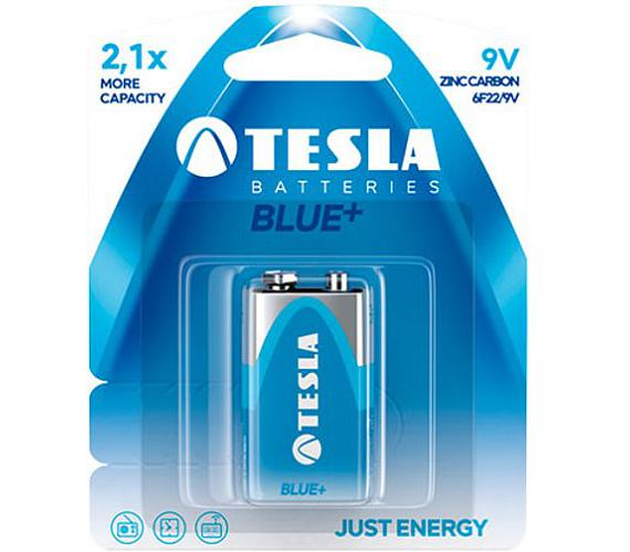 TESLA BLUE+ Zinc carbon baterie 9V (6F22