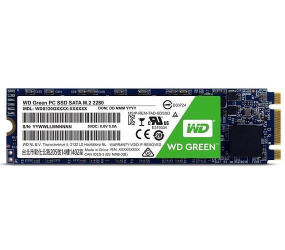 WD SSD GREEN 480GB / WDS480G2G0B / SATA 6Gb/s / Interní / M.2 / 3D NAND