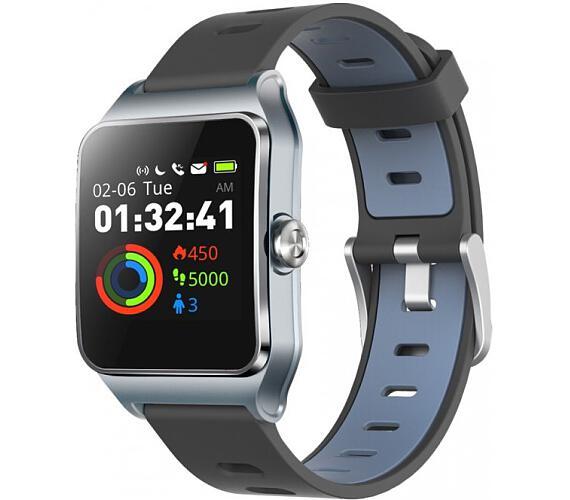 "Umax chytré hodinky U-Band P1 PRO/ 1,3"" IPS/ Bluetooth 4.2/ MTK2511/ GPS/ ATM50/ iOS 8.0 +/ Android 4.3 +/ šedo-stříbrné (UB523)"