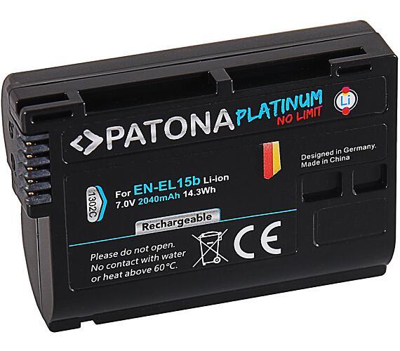 PATONA baterie pro foto Nikon EN-EL15B 2040mAh Li-Ion Platinum (PT1302) + DOPRAVA ZDARMA