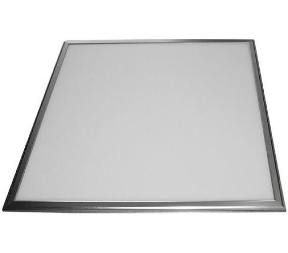 IMMAX LED panel/ 600x600x10mm/ 40W/ 4400lm/ přírodní bílá/ 5Y + zdroj/ stříbrný (08806L)