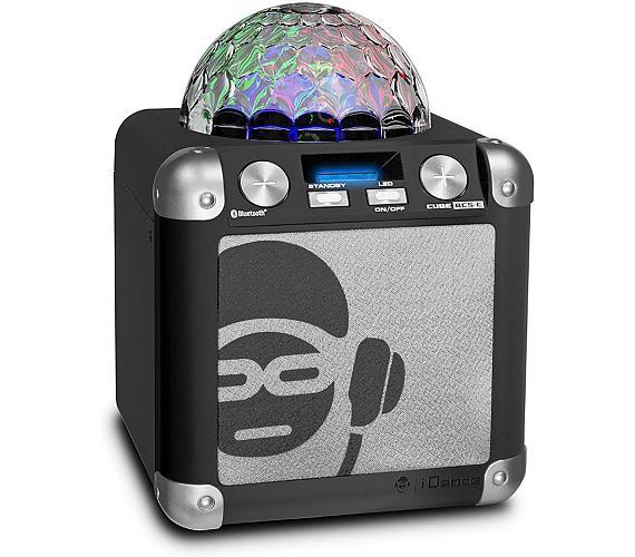 iDANCE PARTY CUBE BC5-C/ BT repro/ 40W/ 1x Disco ball/ USB/ 1x MIC