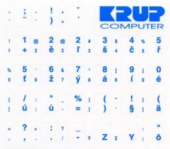 polepka na klávesnici - modrá