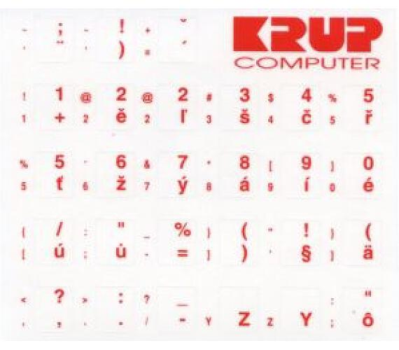 polepka na klávesnici - červená