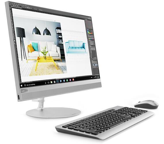 "Lenovo IdeaCentre AIO 520-22IKU i3-7020U 2,30GHz/4GB/SSD 256GB/21,5"" FHD/MULTITOUCH/WIN10 stříbrná F0D500KNCK"
