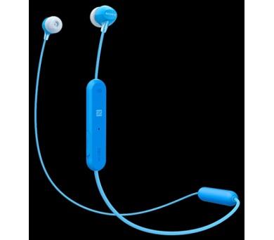 SONY WIC300L.CE7 Sportovní sluchátka s uchycením okolo ucha + ovladač pro telefon - Blue