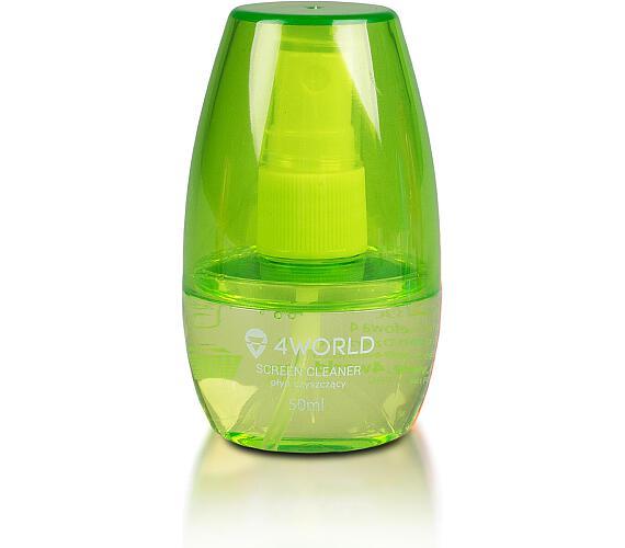 4World Čistící Gel 50ml + hadřík GREEN (10554-GRN)