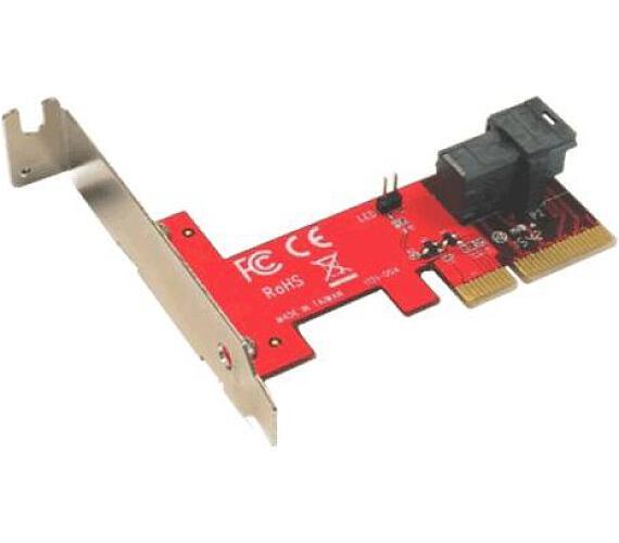 KOUWELL řadič pro miniSAS HD36P pro U.2 NVMe SSD do PCIe / LowProfile (PE-131) + DOPRAVA ZDARMA