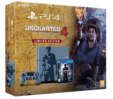 PS4 - Playstation 4 1TB + Uncharted 4 Limitovaná Edice (PS719804451)