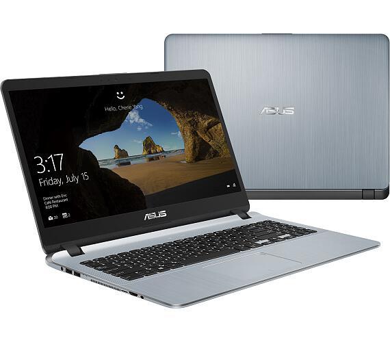 "ASUS X507UF-EJ256T i7-8550U/8GB/1TB 5400ot. + 256GB SSD/MX130/15,6"" FHD/Win10/šedý"