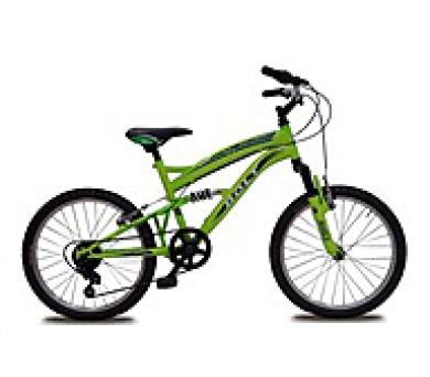 """OLPRAN jízdní kolo BOLT 20"""" (celoodpružené) - fosoforově zelené (K/Bolt20 fz)"""