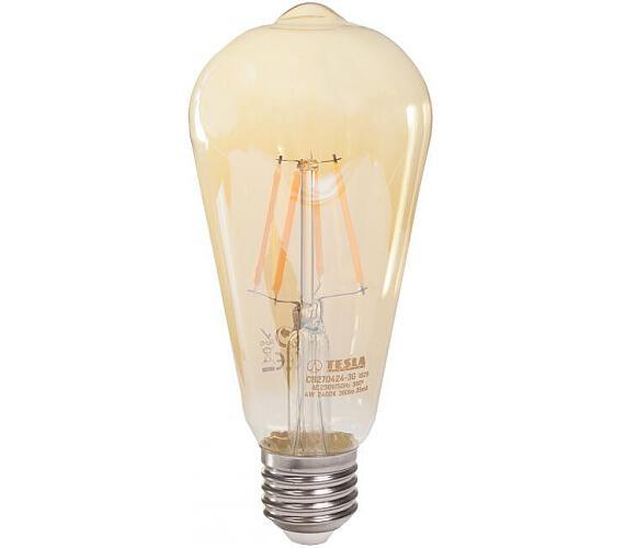 TESLA LED žárovka CONE BULB CRYSTAL RETRO/ E27/ 4W/ 230V/ 380lm/ 2400K/ teplá bílá/ zlatá (CB2