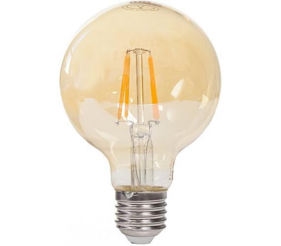 TESLA LED žárovka GLOBE CRYSTAL RETRO/ E27/ G80/ 4W/ 230V/ 380lm/ 2400K/ teplá bílá/ zlatá (GL