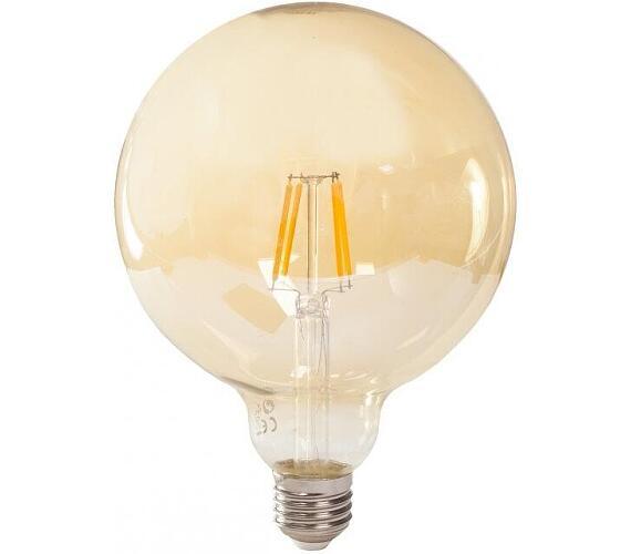 TESLA LED žárovka GLOBE CRYSTAL RETRO/ E27/ G125/ 4W/ 230V/ 380lm/ 2400K/ teplá bílá/ zlatá (G
