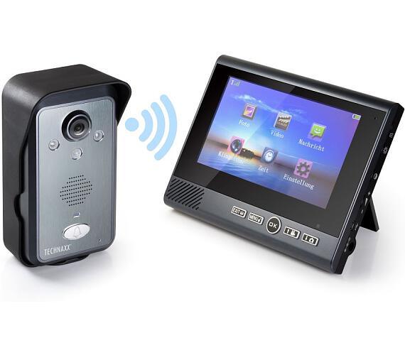 """Technaxx bezdrátový video zvonek s kamerou včetně LCD monitoru 7"""" (TX-59+) (4770) + DOPRAVA ZDARMA"""