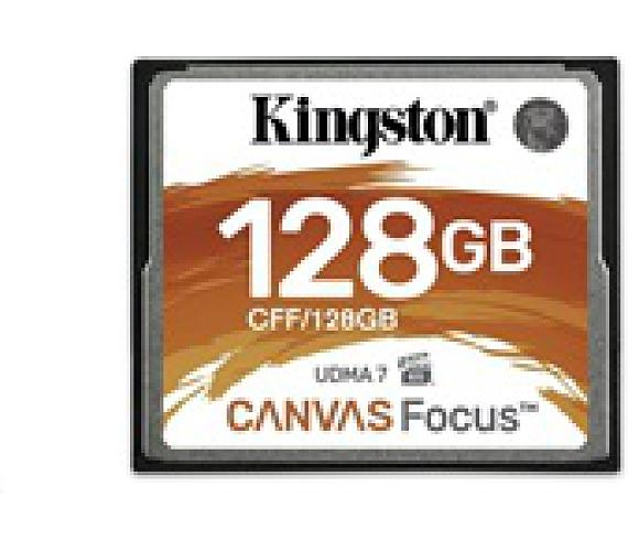 Kingston 128GB CompactFlash Canvas Focus up to 150R/130W (CFF/128GB)