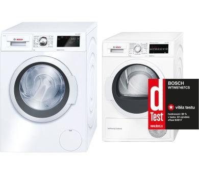 Bosch WAT28660BY + Sušička Bosch WTW87467CS