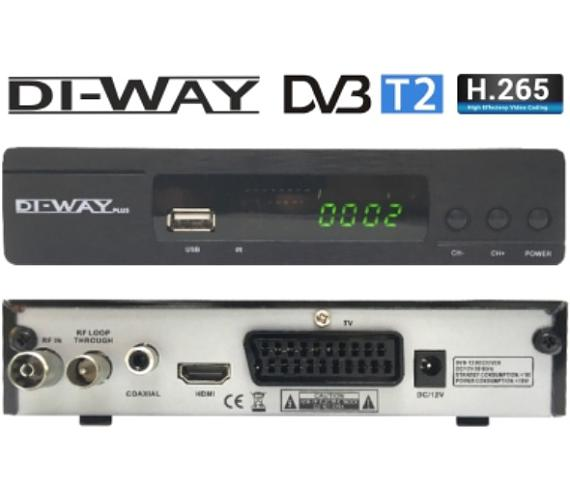 SET TOP BOX DI-WAY T2-ONE plus FullHD s HEVC H.265 DVB-T2 + DOPRAVA ZDARMA