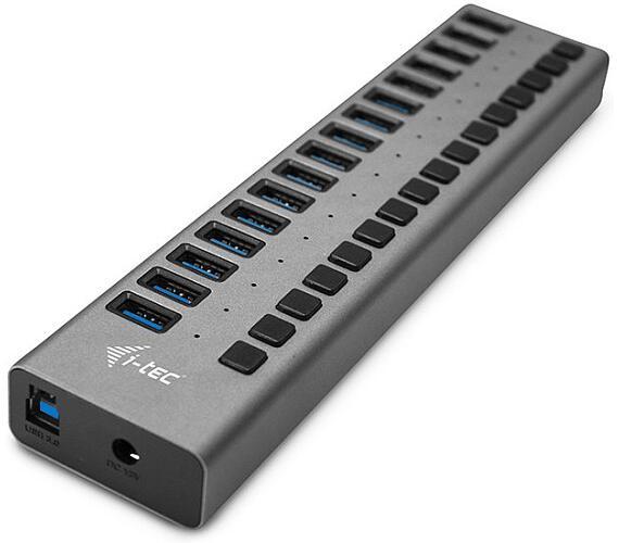 i-tec USB 3.0 nabíjecí HUB 16 Port + napájecí adaptér 90 W (U3CHARGEHUB16)