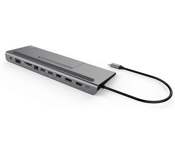 I-TEC dokovací stanice USB-C Metal Low Profile 4K Triple/ HDMI/ D-SUB/ DP/ LAN/ 2x USB 3.0/ USB 2.0/ USB-C (C31FLATDOCKPDPLUS)