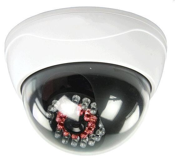 NEDIS atrapa bezpečnostní kamery s infračervenou LED/ kopulovitá/ IP44/ venkovní i vnitřní/ bílá (DUMCD20WT)