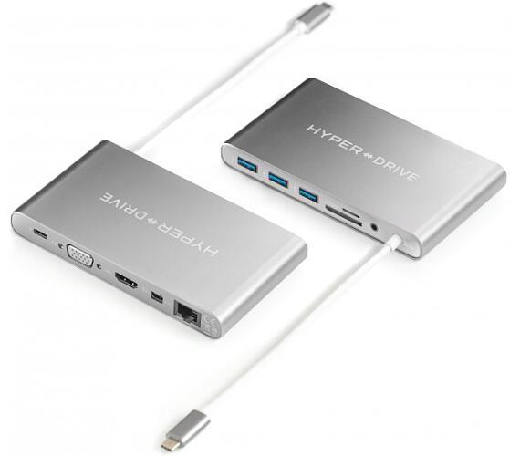 HyperDrive™ Ultimate USB-C Hub - Stříbrný (HY-GN30B-SILVER) + DOPRAVA ZDARMA