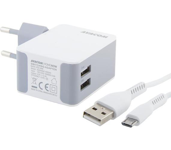 AVACOM HomeNOW síťová nabíječka 3,4A se dvěma výstupy