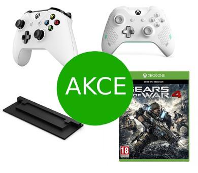 AKCE: 2 x Bezdrátový ovladač Xbox One + dárky ZDARMA (hra Gears of War 4