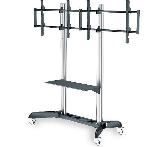 """DIGITUS Dual TV-Cart for screens up to 70"""" shelf for DVD players + DOPRAVA ZDARMA"""