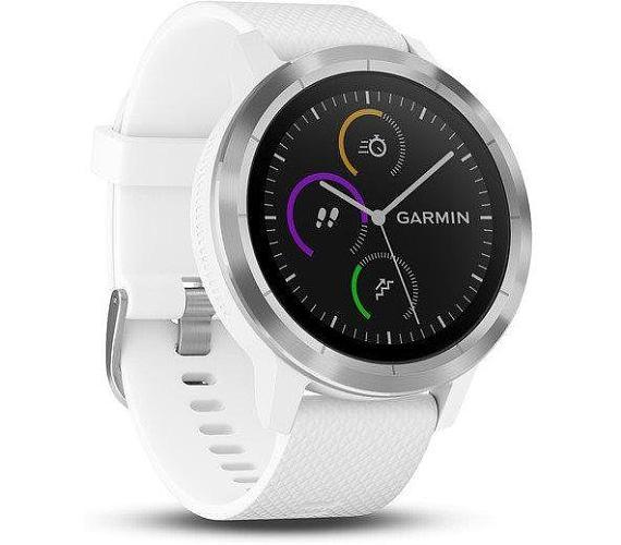 GARMIN GPS multisportovní hodinky vívoActive3 Optic Silver White (010-01769-22)