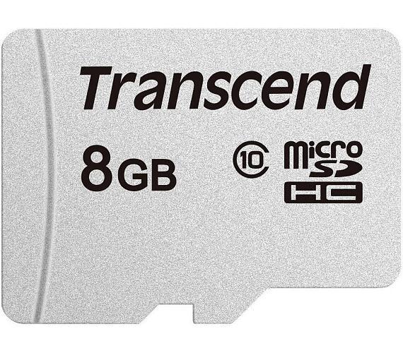 Transcend 8GB microSDHC 300S (Class 10) paměťová karta (TS8GUSD300S)