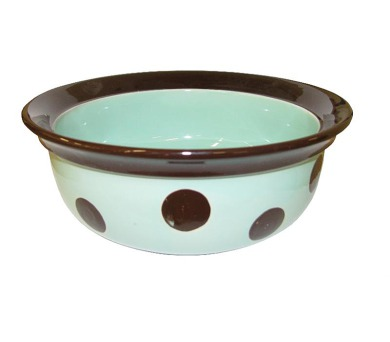 Miska keramická Puntík - zelenkavo/hnědá RW 12,5 cm