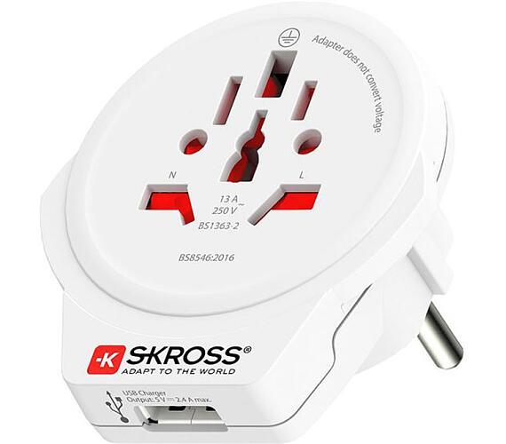 SKROSS cestovní adaptér SKROSS Europe USB pro cizince v ČR