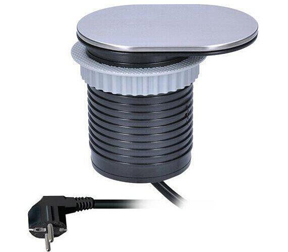 Solight 1x vestavná zásuvka + 1x USB s posuvným víčkem