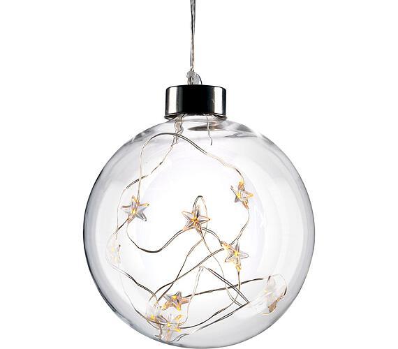 Solight LED vánoční koule skleněná