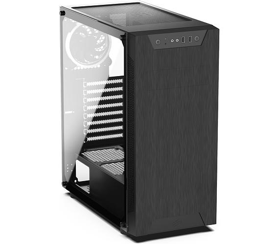 SilentiumPC skříň MidT Armis AR5 TG RGB / 2x USB 3.0/ 3x 120mm fan/ bok z tvrzeného skla/ RGB podsvícení/ černá (SPC211)