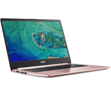 "Acer Swift 1 (SF114-32-P0WP) Pentium N5000/4GB+N/A/256GB SSD M.2+N/A/HD Graphics/14"" FHD IPS LED matný/BT/W10 Home/Pink (NX.GZLEC.002"