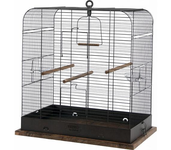 Klec ptáci RETRO MADELEINE kov/dřevo 54x34x53cm Zolux + DOPRAVA ZDARMA