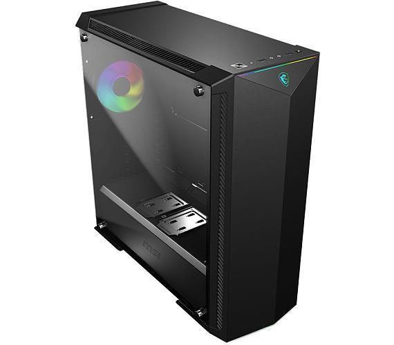 MSI skříň MPG GUNGNIR 100/ bez zdroje/ levé temperované sklo/ 3x 120 mm + 1x A-RGB 120 mm fan/ 2x USB3.0/ černá (306-7G09M21-W57)