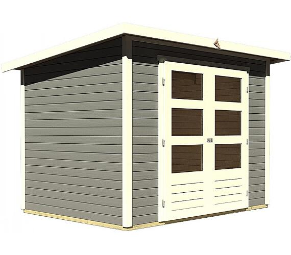 Dřevěný domek Lanit Plast KARIBU STOCKACH 3 (82979) tm. šedý