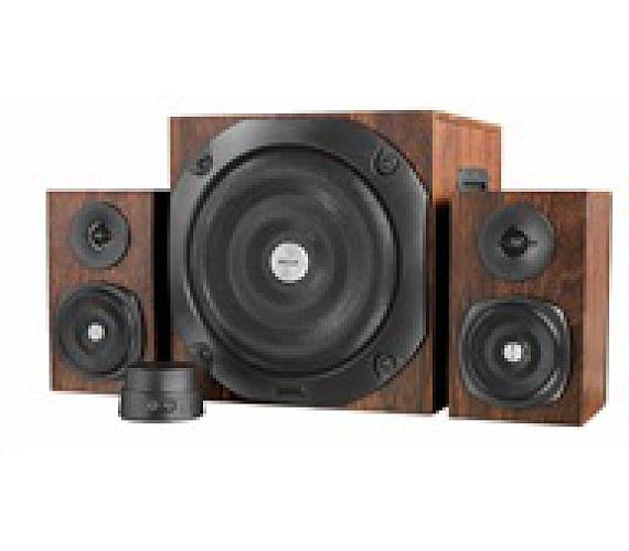 TRUST Reproduktory Vigor 2.1 Subwoofer Speaker Set - hnědá (20245)