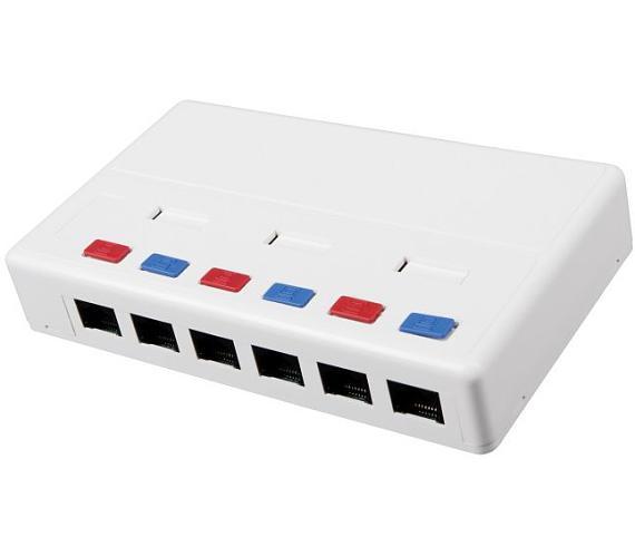 Solarix Eth.Zás. rozvodný box na om. 6xRJ45 UTP c5e (12264681)